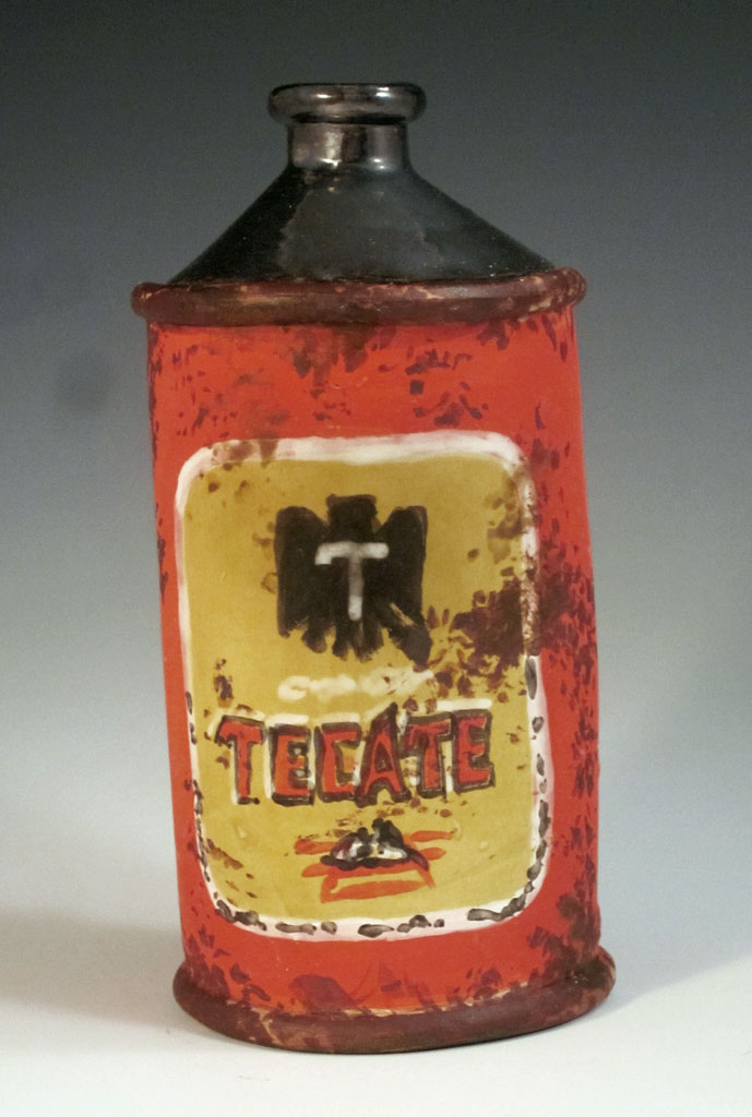 Tecate Conetop Beer Can Liz Crain Ceramics