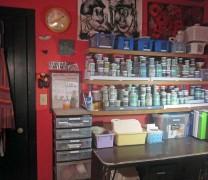 Liz Crain Ceramics East Studio Wall