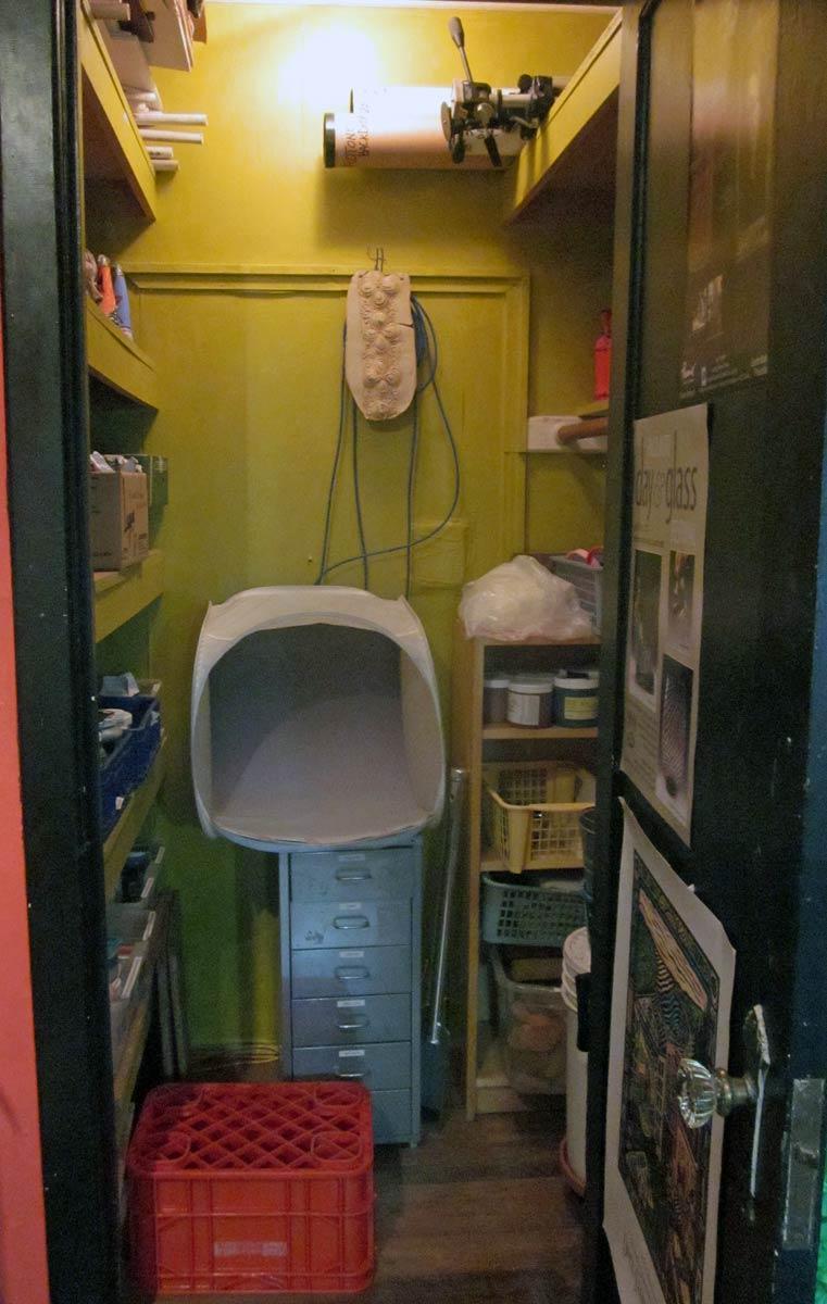 Liz Crain Ceramics Studio Closet