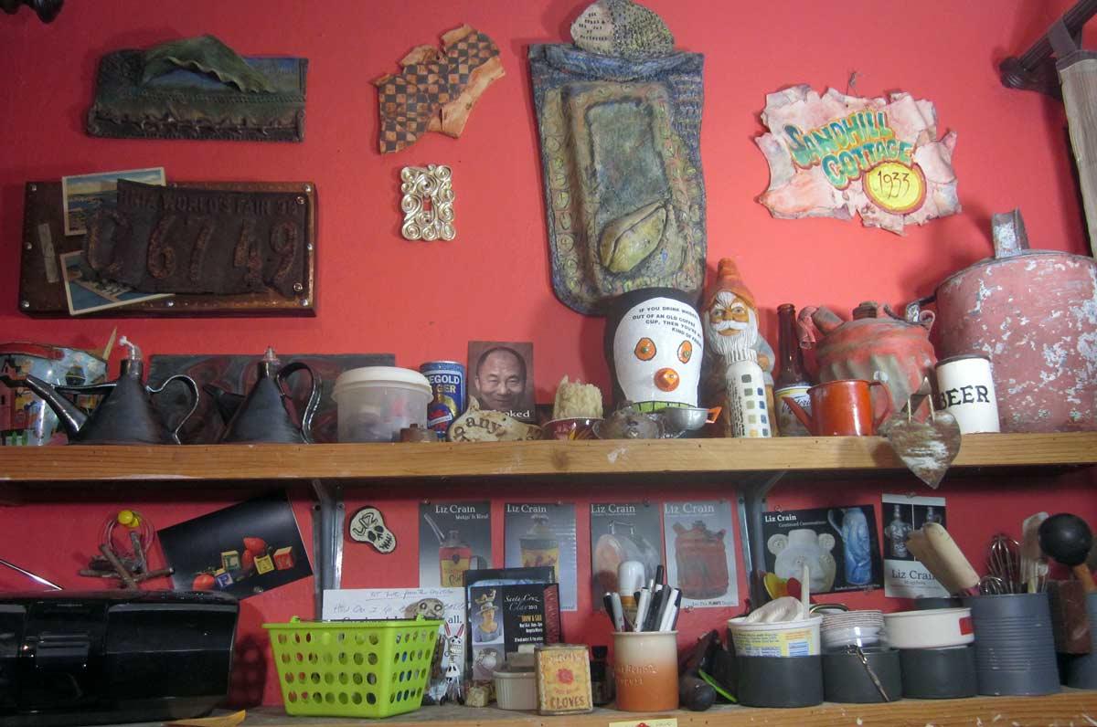 West Wall Shelves Liz Crain Ceramics