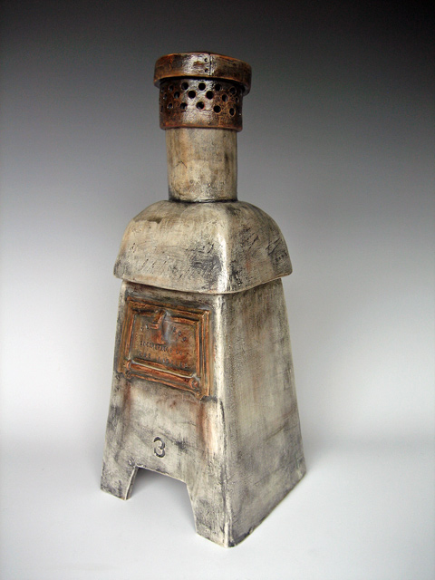 Backyard Incinerator Ceramic Sculpture by Liz Crain