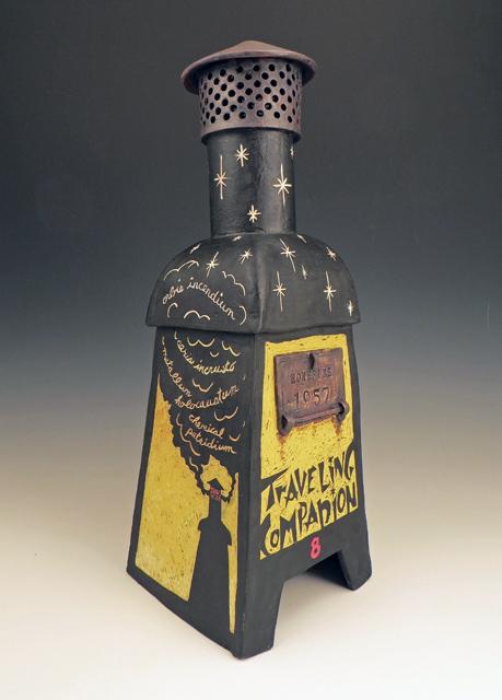 ceramic incinerator sculpture