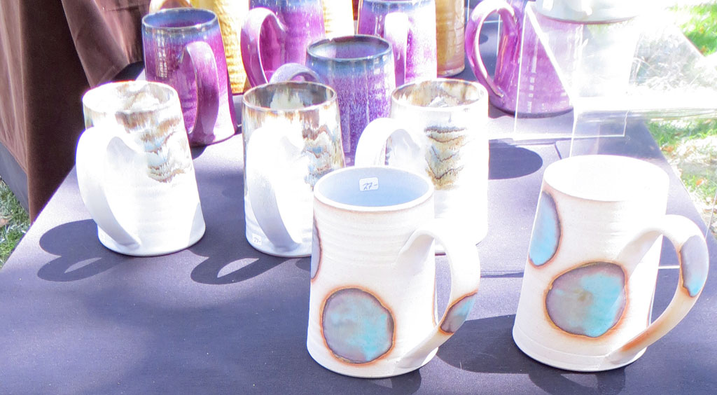 Ceramic Mugs by Ross Spangler