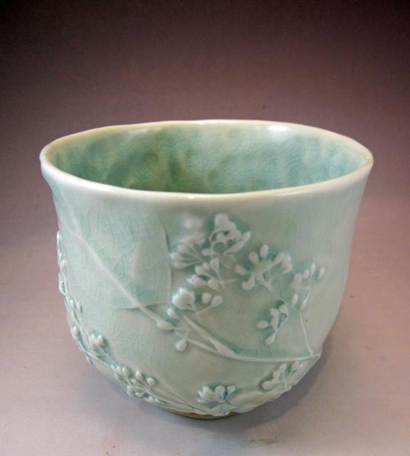 celadon teabowl by Kathryn McBride