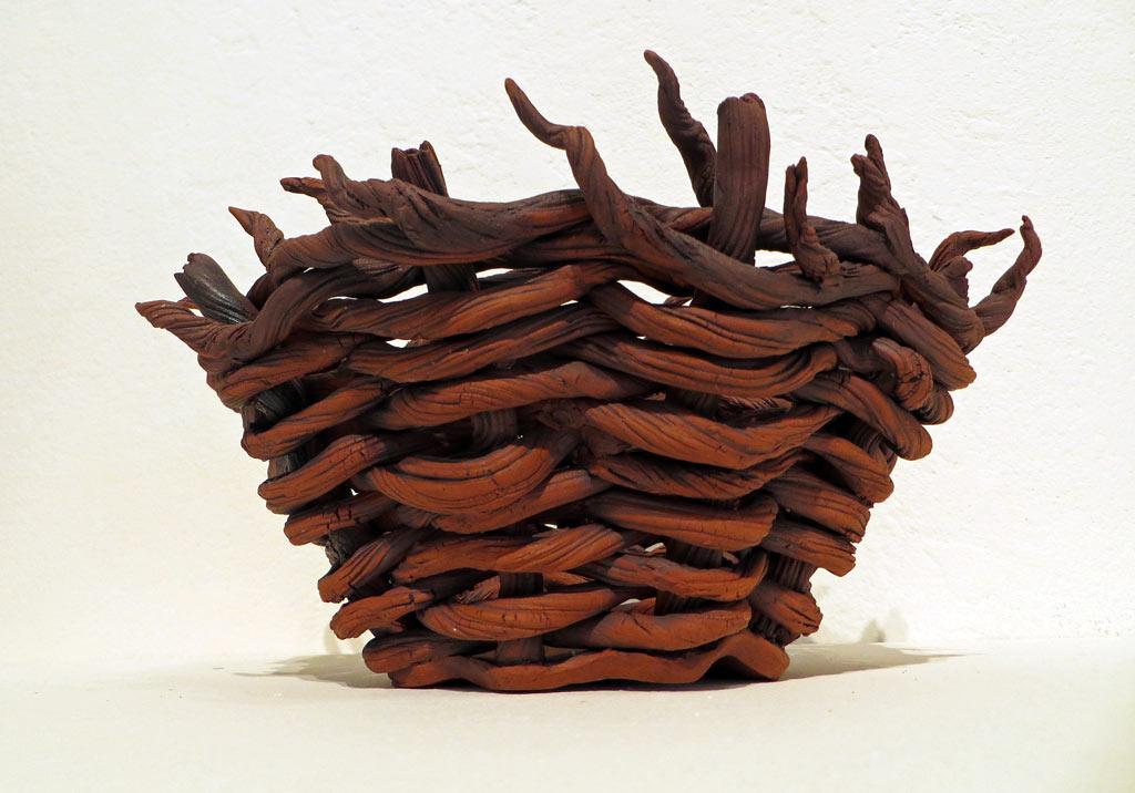Ceramic Basket by Sylvia Rios