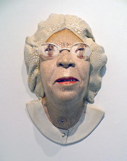 Ceramic Portrait wall piece