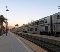 Amtrak Train in Station