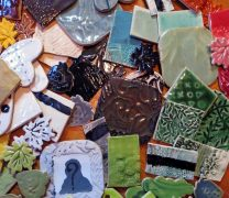 Ceramic test tile glaze palette