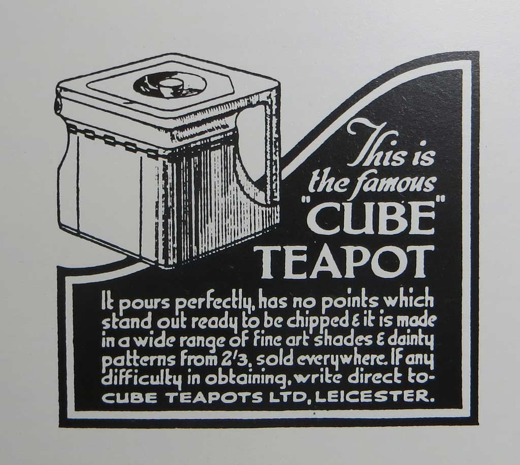 Vintage ad for The Cube Teapot