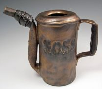 Ceramic Industrial Pitcher with Faux Repairs