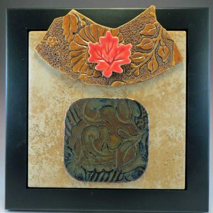 finely tooled ceramic collage