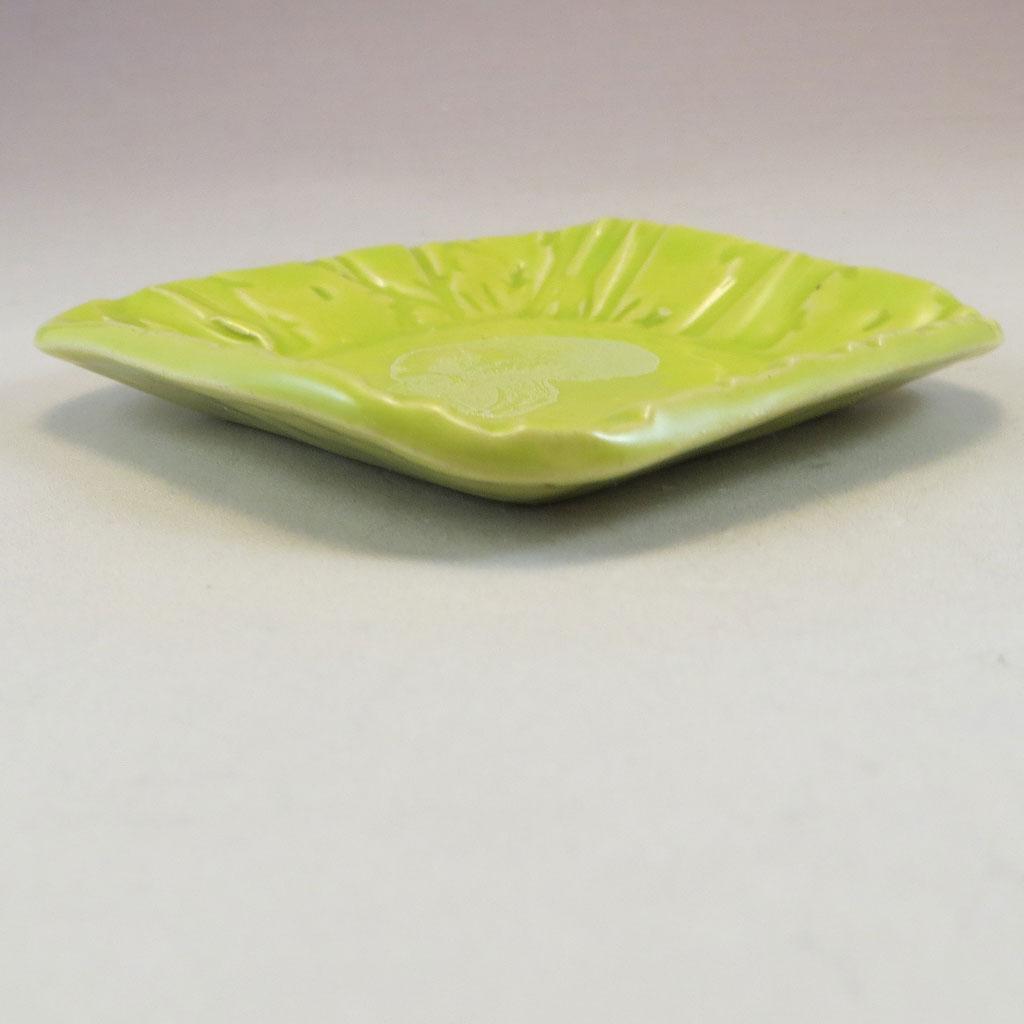 chartreuse skull dish side angle
