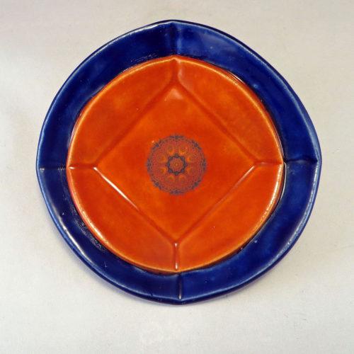 CobaltBurntOrangeDuplexDish top
