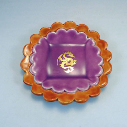 BurntOrange and Hot Orchid Duplex Dish top