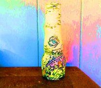ceramic vase with sgraffio