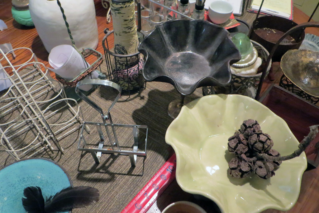 Tableful of found objects