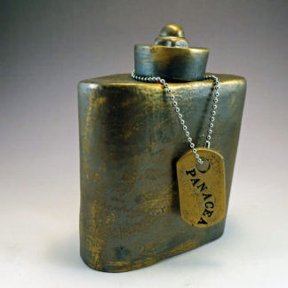 Ceramic Flask with PANACEA Dogtag