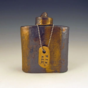 Ceramic Flask with FIX ALL dogtag