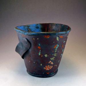 ceramic vintage metal sand pail