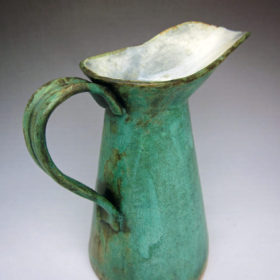Turquoise Enamelware Pitcher
