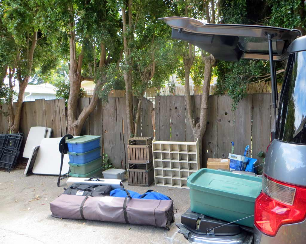 Stuff to Load in Car