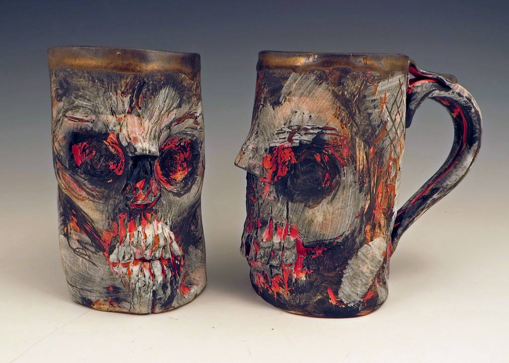 In And BlackWhite Red Mugstein Eerie Skull 0knwOP
