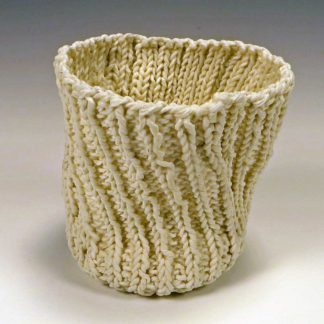 knitted porcelain cup