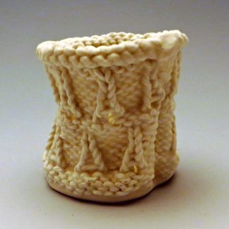 Eiffel Tower knitted porcelain small cup
